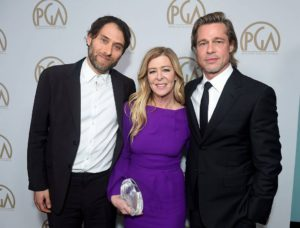 L-R: David O. Selznick Award - Plan B (Jeremy Kleiner, Dede Gardner and Brad Pitt)