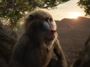 """The Lion King - Featuring the voice of John Kani as Rafiki, Disney's """"The Lion King"""" is directed by Jon Favreau. In theaters July 19, 2019. © 2019 Disney Enterprises, Inc. All Rights Reserved."""