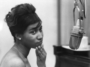 Aretha Franklin recording at Columbia Studios in 1962 in New York Photo Credit: Donaldson Collection/Michael Ochs Archives/ Getty Images / Courtesy of HBO