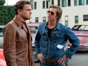 L-R: Leonardo DiCaprio and Brad Pitt in the film Once Upon A Time In Hollywood