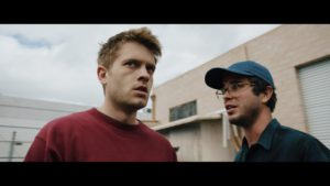 Chase Williamson and Shane Coffey in the film Greenlight