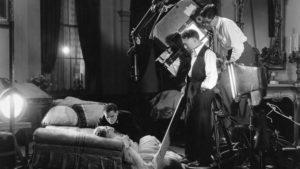 William H. Daniels Filming Greta Garbo in Romance
