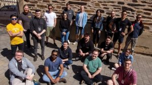 Some of the nearly two dozen former UniSA students now working as visual effects artists at Rising Sun Pictures.