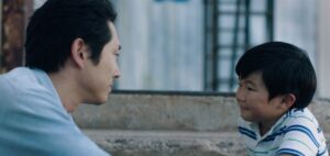 Steven Yeun and Alan S. Kim in Minari