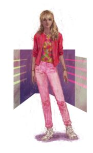 Cassie Pink Cardigan Outfit