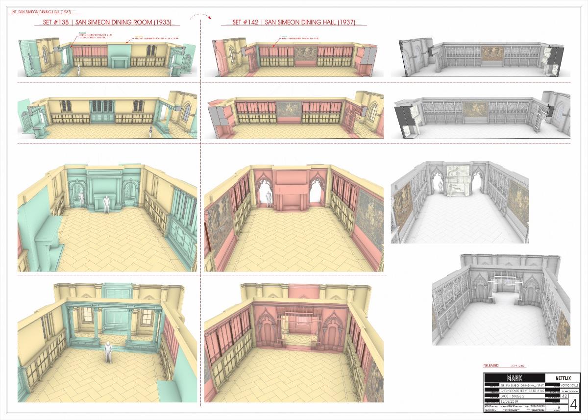 San Simeon Dining Room/Hall changeover