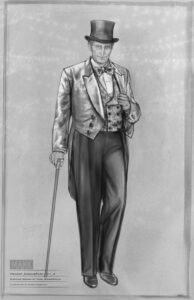 Hearst circus costume sketch