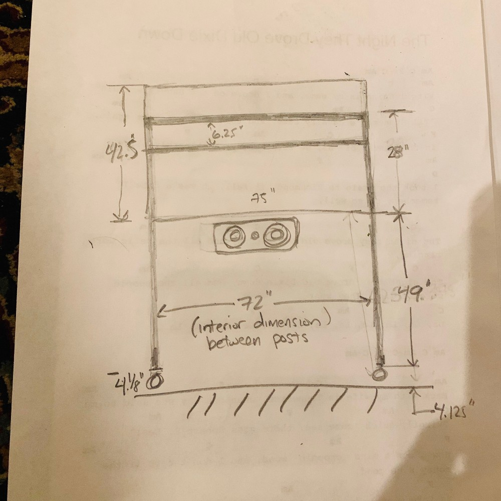 Sketch for speaker stands