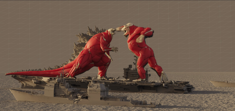 Godzilla vs. Kong - muscle pass