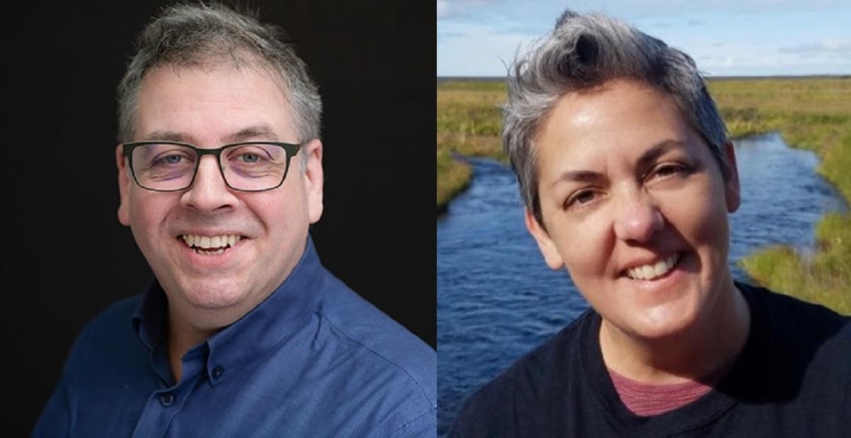 (L-R) Thomas Bause Mason, Maureen O'Rourke