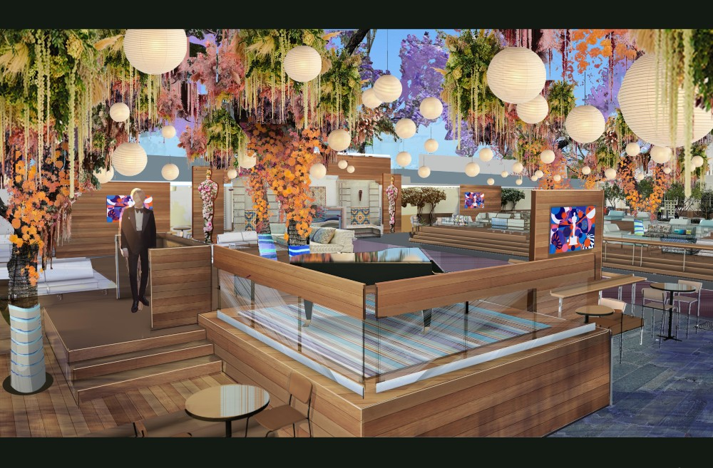 Design artwork for North Patio (Courtesy The Rockwell Group)