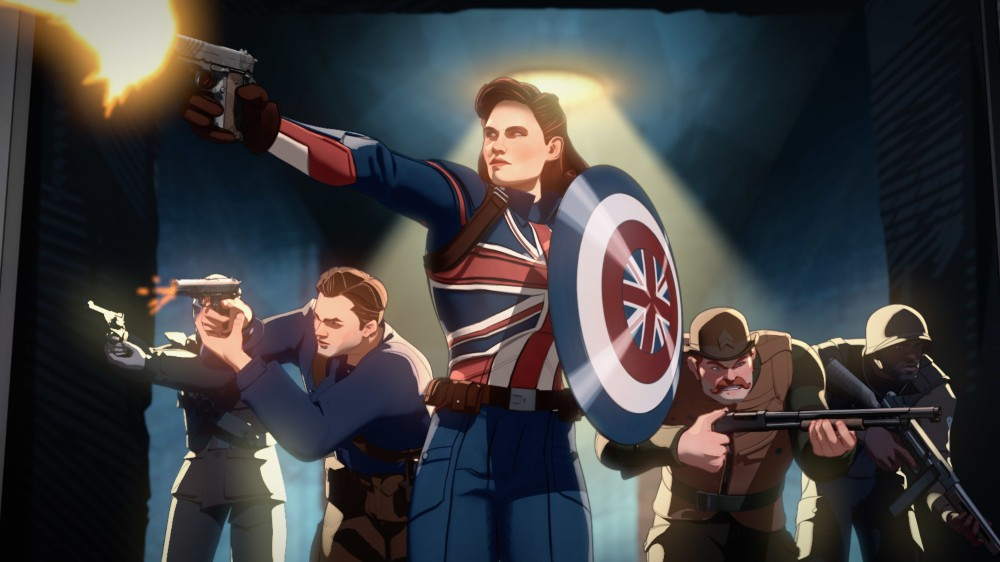 Captain Carter (as voiced by Hayley Atwell) on Marvel's What If...? (Disney)